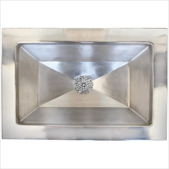 Linkasink Bathroom Sinks - Vintage Jeweler - B042 Facet Sink - B042-PS Polished Stainless Steel
