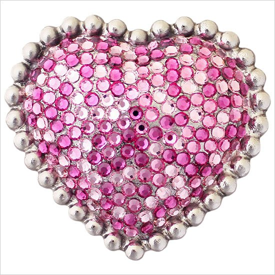 Linkasink Drain - Linkasink D603 Heart with Swarovski Crystals Decorative Sink Drain