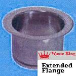 3141 - 3 Bolt Extended Flange: Satin Nickel