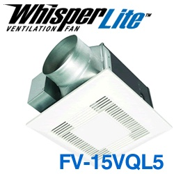 Panasonic Fans - FV-15VQL5 WhisperLite Bathroom Exhaust Fan - 150 cfm - 0.9 Sones - 6 Inch Duct