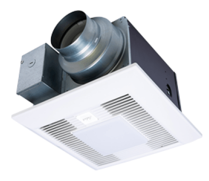 "Panasonic Fans - WhisperGreen Select - FV-05-11VKSL1-2 (Two-Pack) Bathroom Exhaust Fan - 30-110 CFM - Multi-Speed - 4"" & 6"" Duct + LED Light"