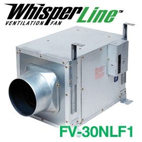 Panasonic Fans - WhisperLine - FV-30NLF1 Inline Bathroom Exhaust Fan - 340 cfm - 1.7 Sones - 6 Inch Duct
