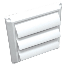 "Lambro Industries - Wall Caps - Polypropylene Plastic 6"" White Louver Vent - Model 361W"