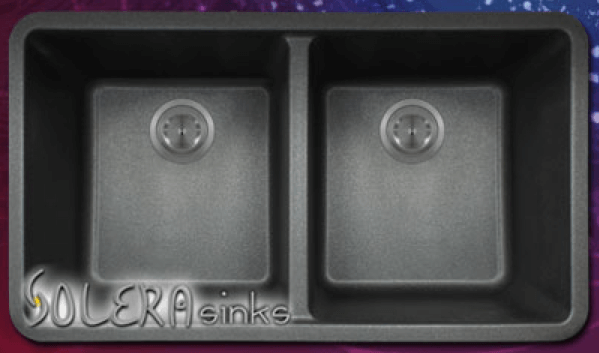Solera Sinks - Kitchen - Granite - S208 Double Equal Bowl Undermount