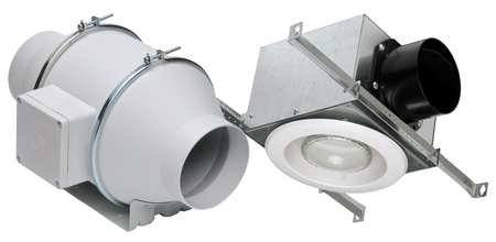 "S&P Soler & Palau Ventilation Fans - KIT-TD100XH 4"" Duct Inline Mixed Flow Ventilation Fan Kit - H 135 cfm, L 100 cfm Halogen"