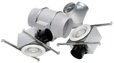 "S&P Soler & Palau Ventilation Fans - KIT-TD150L 6"" Duct Inline Mixed Flow Ventilation Fan Kit - H 293 cfm, L 218 cfm LED Light"
