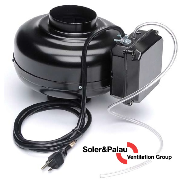 S&P Soler & Palau Ventilation Fans - Dryer Boosting - Dryer Booster Kit PV-100XPS With Integrated Pressure Switch