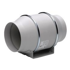 "S&P Soler & Palau Ventilation Fans : TD-150 6"" Duct Inline Mixed Flow Duct Ventilation Fan - H 293 cfm L 218 cfm"